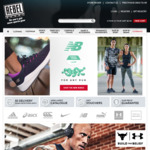 40% off Most Clothing, Shoes @ Rebel Sport