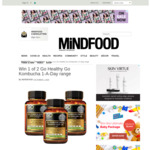 Win 1 of 2 Go Healthy Go Kombucha 1-A-Day Range from Mindfood
