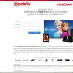 6 Weeks Free Quickflix Subscription + 1 New Release Movie