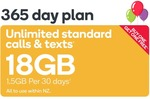Buy One Get One Free 365 Day Prepay Plans (Small $160, Med $250, Large $330) @ Kogan Mobile
