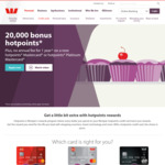 Westpac 20,000 Bonus Hotpoints & No Annual Fee for 1 Year on a New Hotpoints Mastercard, or Hotpoints Platinum Mastercard