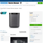 Sonos Play:1 $297 Harvey Norman