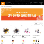 50% off T2 Teas Departing Range
