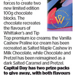 Win 1 of 2 Whittaker's and Tip Top Chocolate Prize Packs from The Dominion Post
