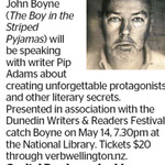 Win a Double Pass to See John Boyne from The Dominion Post (Wellington)