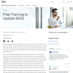 Free IBM Online Training Courses @ IBM