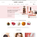 50% Off Sitewide (Excludes Sale + Kits) + $12 Delivery/Free with $70 @ Nude by Nature