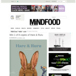Win 1 of 8 copies of Hare & Ruru from Mindfood