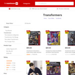 Buy One Get One Half Price + Buy One Get One Half Price on Transformers Toys @ The Warehouse