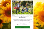 Free Packet of Vegetable Seeds Delivered from Yates