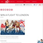 Win a Return Flight to London from Ifly