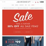 f6c26562ce9a expired JeansWest Extra 50% off Sale Items in-Store and Online Mens from   10