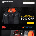 80% of All Blacks Jerseys and Supporters Gear (Plus Super Rugby Gear) at New Zealand Jerseys