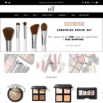 Free Shipping With AUD $10 ($11) Order, Free 5 pc Brush Set with AUD $45 ($49.45) Order Sale Items from $2 @ e.l.f. Cosmetics