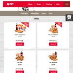 Free DELIVERY for ' $44.99 That's a 10 Delivered' or ' $49.99 The Colonel's Choice' at KFC