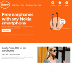 Free Earphones with Any Nokia Smartphone @ Skinny