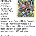 Win 1 of 4 copies of Promises Promises - 80 Years Of Wooing New Zealand Voters from The Dominion Post