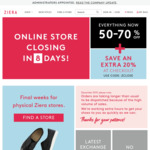 Extra 20% off Sale Prices @ Ziera Shoes