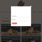 2pc Chicken, Sml Fries + Drink $6.99 | Burger, 4pc Wings, Reg Mash, Sml Fries + Drink $8.99 + More @ Texas Chicken
