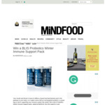 Win a BLIS Probiotics Winter Immune Support Pack (Worth $259) from Mindfood