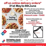 50% off Delivery Orders for The Entire Menu @ Domino's Khandallah
