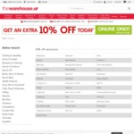 Extra 10% off Online @ The Warehouse - TODAY ONLY (Exclusions Apply)