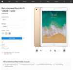 Refurbished iPad Wi-Fi 128GB (2017 Model, Gold) from Apple = NZ$499 (Free Delivery)