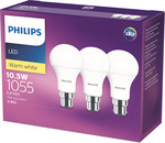 Philips LED Bulbs 3 Pack $15 @ Bunnings