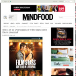 Win 1 of 10 DVD copies of 'Film Stars Don't Die in Liverpool' from Mindfood