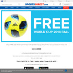 Free Adidas World Cup Football + £0.99 (~NZ $1.87) Shipping @ Sports Direct