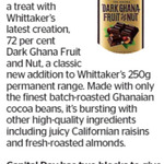 Win 1 of 2 Blocks of Whittaker's DARK GHANA FRUIT & NUT from The Dominion Post