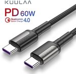 KUULAA USB Type C to C Cable: ~0.5m: 0.92nzd (US $0.6); 1m: 2.22nzd (US $1.48); 2m: 3.43nzd (US $2.28) Delivered @ AliExpress