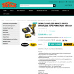 Dewalt Cordless Impact Driver Brushless 3 Speed, 18v, 5ah Battery, Fast Charger $269 @ The Tool Shed