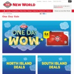New World One Day Wow: Beef Rump Steaks/Roasts $9.99/kg, Broccoli 99c, 1kg Cheese $8.99 (SI Only) + More