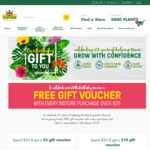 Free Gift Vouchers with Every Purchase Over $25 @ Kings Plant Barn (Auckland)