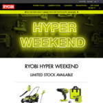 Ryobi Black Friday: ONE+ 18V Drill Driver Kit - $149, Ryobi ONE+ 3 Piece Garden Care Kit - $399 @ Bunnings