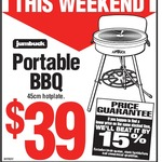 Jumbuck Portable Round Hotplate Gas BBQ $39 (Normally $79.01) @ Bunnings