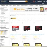 Up to 40% off Sandisk Memory cards & USB Drives @ Amazon