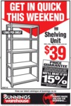 Montgomery 1800x 800x 400mm 5 Shelf Storage Unit $39 (Was $112) @ Bunnings