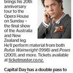 Win a Double Pass to Rufus Wainwright from The Dominion Post (Wellington)