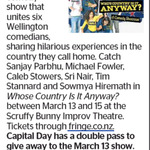 Win a Double Pass to Whose Country Is It Anyway? from The Dominion Post (Wellington)