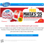 Spend $25 or More on Hasbro Board Games and Get a $25 McDonald's Sharebox Voucher @ The Warehouse