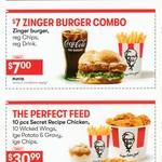 3 Wicked Wings $3, Zinger Combo $7, 10 Original Recipe Chicken + 10 Wings + Lge Potato & Gravy + Lge Chips $30.99 @ KFC Westcity