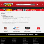 Spend $100 - $199.99 and Save $20, or Spend ≥ $200 and Save $50 @ Supercheap Auto