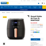 Russell Hobbs Air Fryer 5L RHAF5COP $135 @ Briscoes