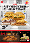 Burger King March Coupons: Tendercrisp + Sm Fries + Sm Drink $8.50, Hawaiian BK Chicken + Sm Fries $7.95, Super Shake $3 + More